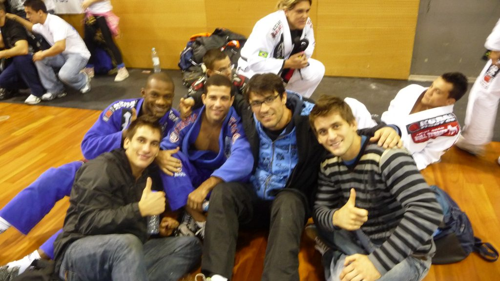 François Deniau with Tanquinho and the Mendes Brothers at the IBJJF European Open